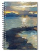Abstract Tahoe Spiral Notebook