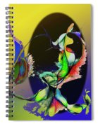 Abstract Tarot Card The Lovers Spiral Notebook