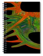 Abstract Tenticles Spiral Notebook
