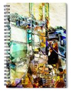 Abstract Train Spiral Notebook