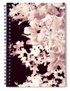Abstract Tree Landscape Dark Botanical Art Rose Tinted Spiral Notebook