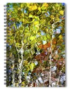 Abstract Tree Reflection Spiral Notebook