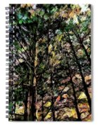 Abstract Trees 691 Spiral Notebook