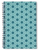 Abstract Turquoise Pattern 2 Spiral Notebook