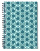 Abstract Turquoise Pattern 3 Spiral Notebook