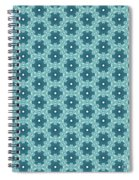 Abstract Turquoise Pattern 4 Spiral Notebook
