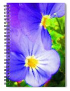 Abstract Violets Spiral Notebook