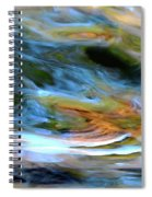 abstract water 2309DB Spiral Notebook