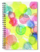 Abstract Watercolor Circles Spiral Notebook