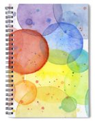 Abstract Watercolor Rainbow Circles Spiral Notebook