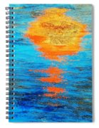 Abstract Watery Sunset Spiral Notebook