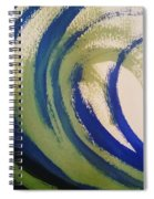 Abstract Waves Spiral Notebook