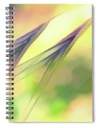 Abstract Weeds Yellow Spiral Notebook