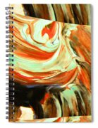 Abstract Whirls Within A Window Spiral Notebook