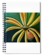 Abstract Yellow Sunflower Art Floral Painting Spiral Notebook