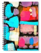 Abstract Wine Bottles Blue Red Spiral Notebook