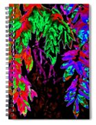 Abstract Wisteria Spiral Notebook