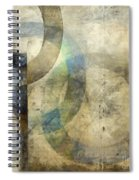 Abstract With Circles Spiral Notebook