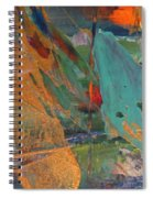 Abstract With Gold - Close Up 7 Spiral Notebook