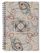 Abstract With Hearts Spiral Notebook