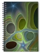 Abstract With Stars Spiral Notebook