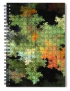 Abstract World Spiral Notebook