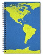 Abstract World Map 0317 Spiral Notebook