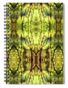 Abstract Yellow Trees Spiral Notebook