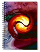 Abstract Yin Yang Lava Spiral Notebook