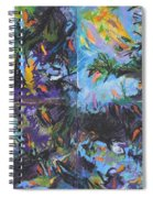 Abstracted Koi Pond Spiral Notebook
