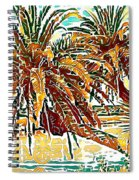 Abstracted Loop Palms Spiral Notebook