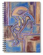 Abstraction 153 Spiral Notebook