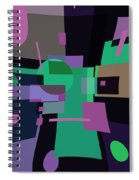 Abstraction In Bent Squares Spiral Notebook