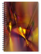 Abstracts Gold And Red 060512 Spiral Notebook