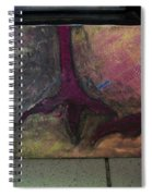 Abstracty Crows Feet Spiral Notebook