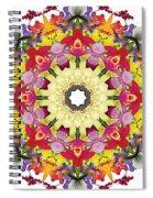 Abundantly Colorful Orchid Mandala Spiral Notebook