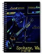 Ac Dc Electrifies The Blues In Spokane Spiral Notebook