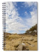 Acacia Tree In The Desert Spiral Notebook