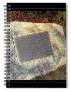 Acadia National Park Centennial Plaque Spiral Notebook
