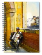 Accordeonist In Florence In Italy Spiral Notebook