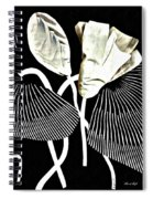 Accordion Leaf Flowers Spiral Notebook