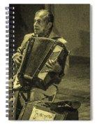 Accordion Player Spiral Notebook