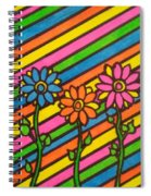 Aceo Abstract Flowers Spiral Notebook