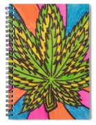 Aceo Cannabis Abstract Leaf  Spiral Notebook
