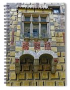Achitecture Of The Little Castle Within Cesky Krumlov In The Czech Republic Spiral Notebook