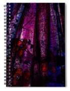 Acid Rain With Red Flowers Spiral Notebook