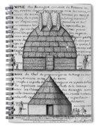 Acolapissa Temple & Cabin Spiral Notebook