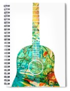Acoustic Guitar 2 - Colorful Abstract Musical Instrument Spiral Notebook