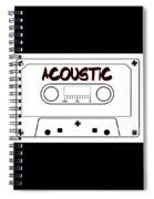 Acoustic Music Tape Cassette Spiral Notebook