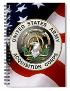 Acquisition Corps - A A C Branch Insignia Over U. S. Flag Spiral Notebook